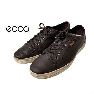 ECCO Brown Leather Spikeless Golf Shoes